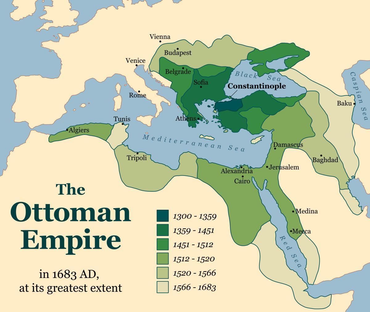 Ottoman Empire in 1683 : MapPorn