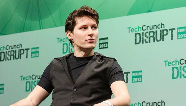 Павел Дуров на конференции Techcrunch