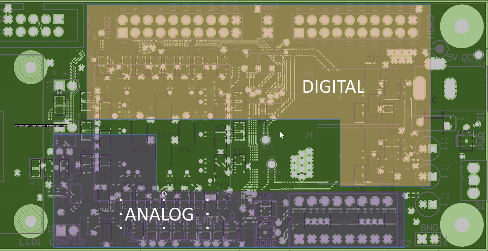 Top Pcb Design Guidelines Every Designer Needs To Know Altium Is The Central Printed Circuit Board In Many Modern Computers Example Components Separation