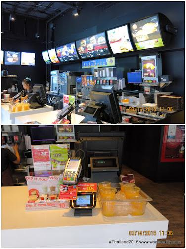 Inside Mc Donalds, Siam Bangkok Thailand