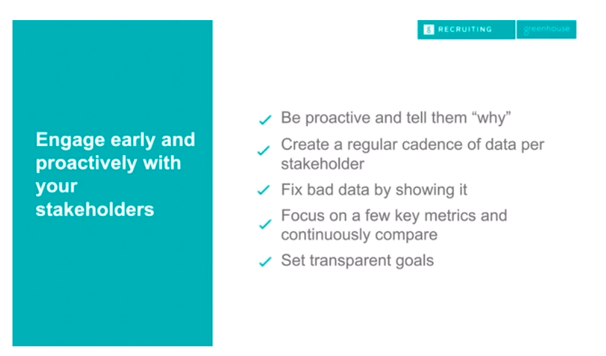 Engage early and proactively with your stakeholders slide