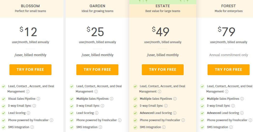 Freshsales pricing