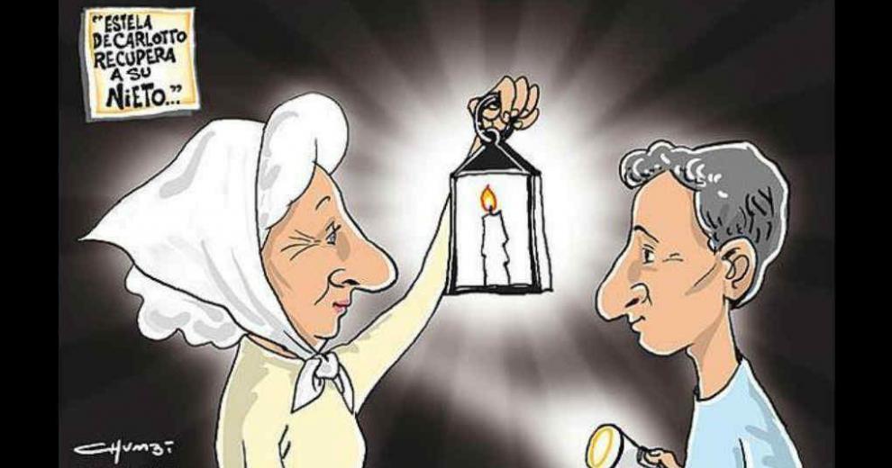 Charge do autor Chumbi sobre o movimento das Mães e Avós da Praça de Maio.