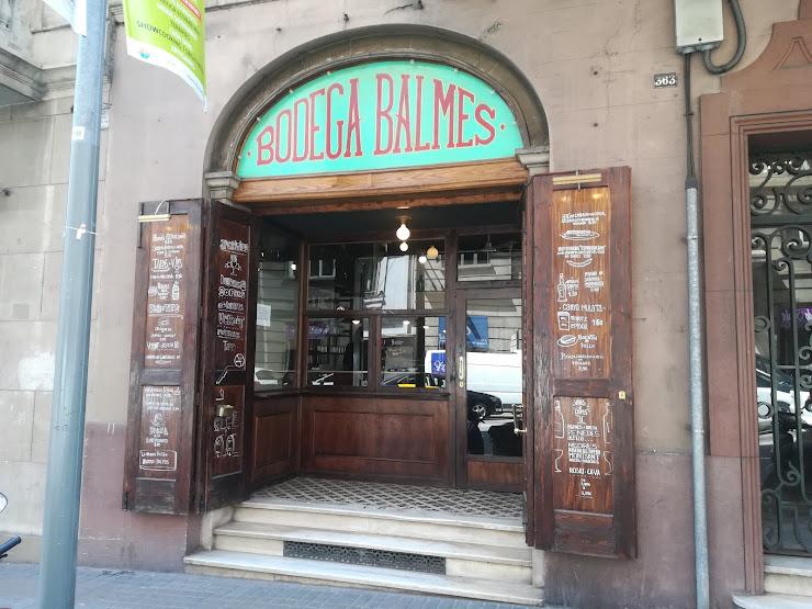 Bodega Balmes Carrer de Balmes, 363, 08006 Barcelona