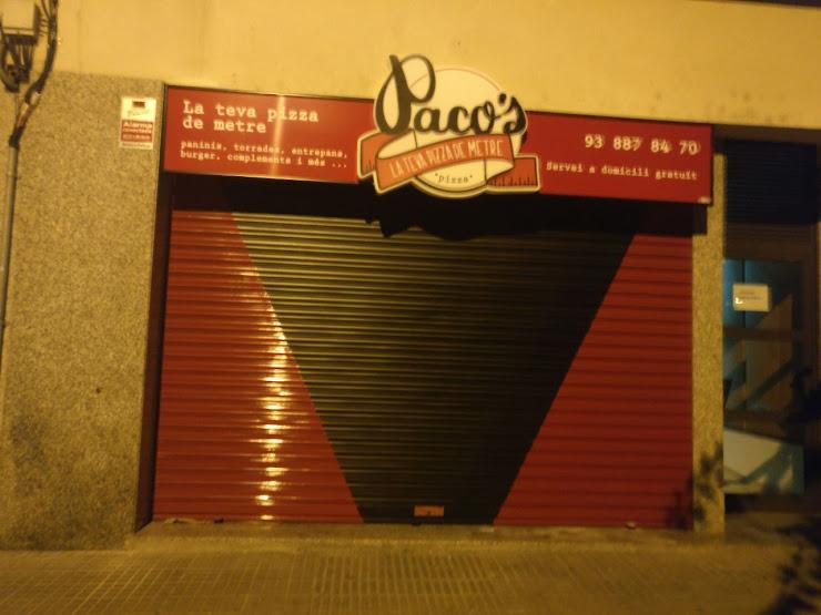 Paco's Pizzeria Av. Ntra. Sra. de Montserrat, 55, 08397 Pineda de Mar, Barcelona