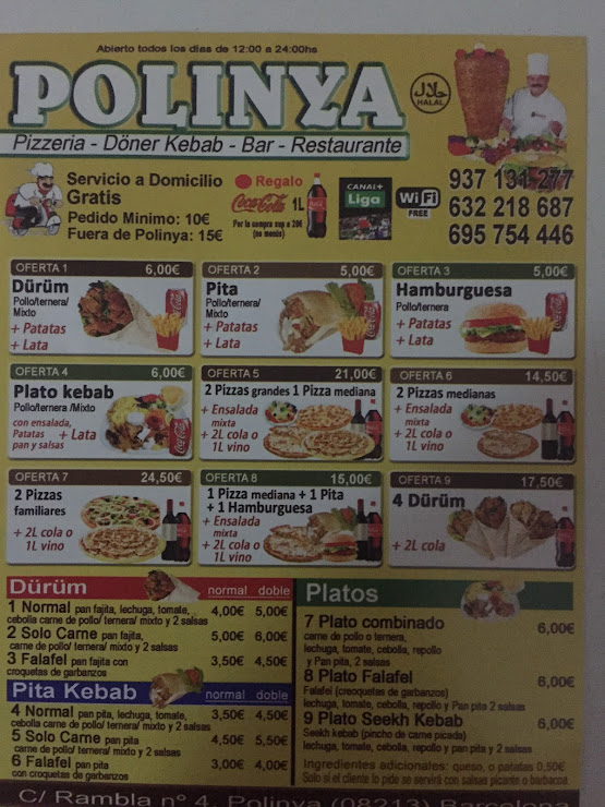 Polinya Pizzeria-Döner Kebab Rambla de Rafael Casanova, 08213 Polinyà, Barcelona