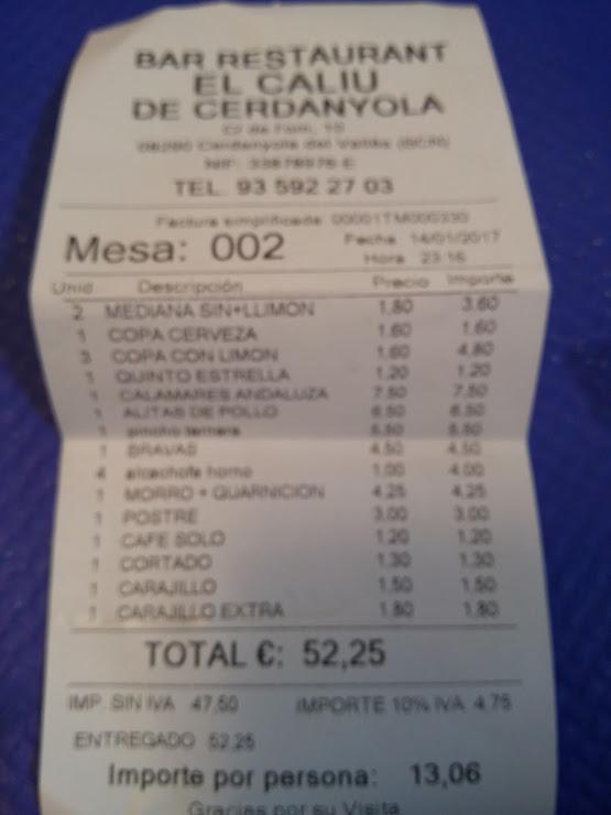 El Caliu de Cerdanyola Carrer de l'Om, 9, 08290 Cerdanyola del Vallès, Barcelona