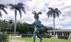 The Barefoot Mailman Statue