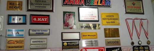 Arma Reklam Diyarbakır Plaket Kupa Madalya Kaşe Masa İsimliği Dijital Baskı