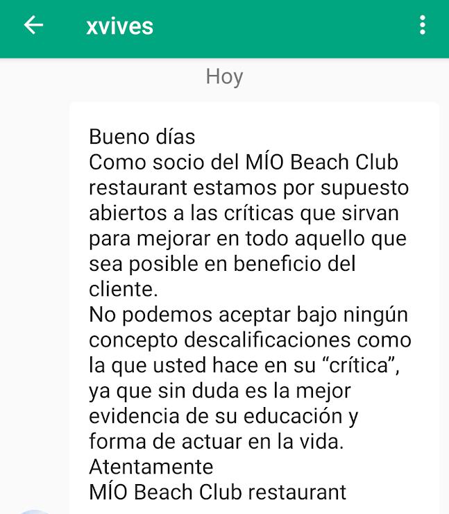 Mío Beach Club Restaurant Passeig del Marquès de Casa Riera, 1, 08394 Sant Vicenç de Montalt, Barcelona