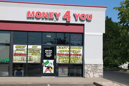 Money 4 You Payday Loans, 4876 S 1900 W, Roy, UT 84067, Loan Agency