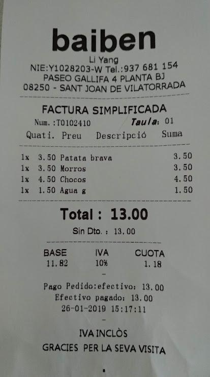 Baiben Passeig Gallifa, 4, 08250 Sant Joan de Vilatorrada, Barcelona