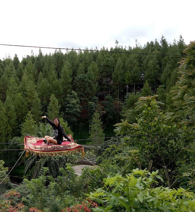 Ingin merasakan naik permadi terbang ala aladin ? Datang dan coba wahana aladin carpet di dago dream park.