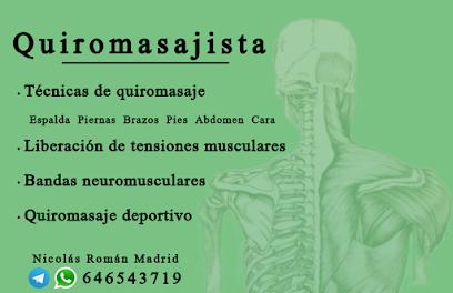 imagen de masajista Quiromasajista - Nicolás Román Madrid
