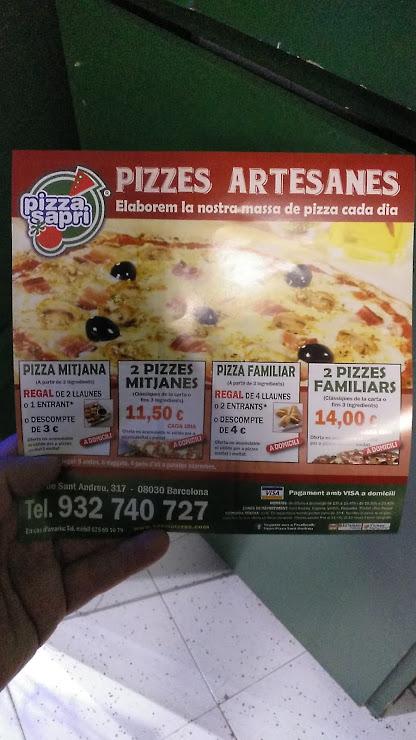 Sapri pizza Sant Andreu Carrer Gran de Sant Andreu, 317, 08030 Barcelona