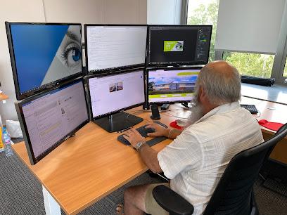Neil Burr at his desk