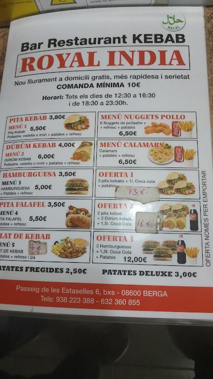 Restaurante Royal India Passeig de les Estaselles, 6, 08600 Berga, Barcelona
