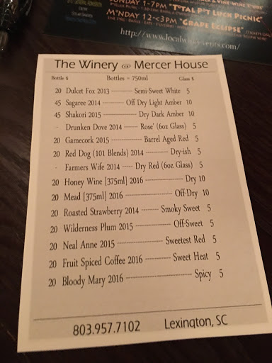 Winery «The Winery at Mercer House», reviews and photos, 397 Walter Rawl Rd, Lexington, SC 29072, USA