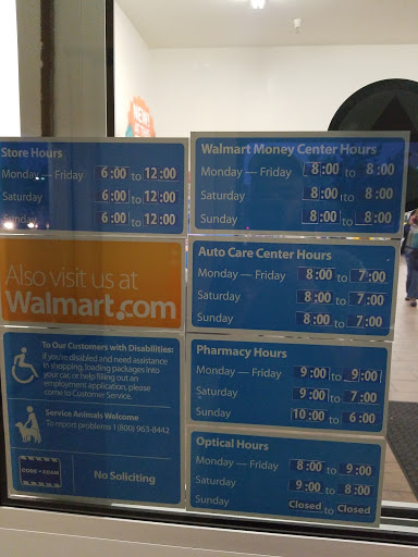 Walmart Tires Hours Sunday