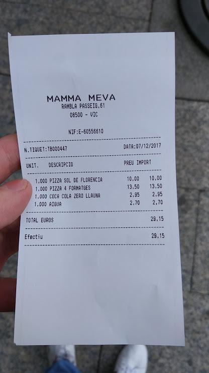 Mamma Meva Restaurant Rambla del Passeig, 61, 08500 Vic, Barcelona