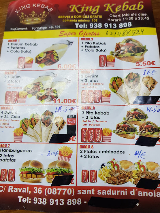 King Döner Kebab Carrer Raval, 36, 08770 Sant Sadurní d'Anoia, Barcelona