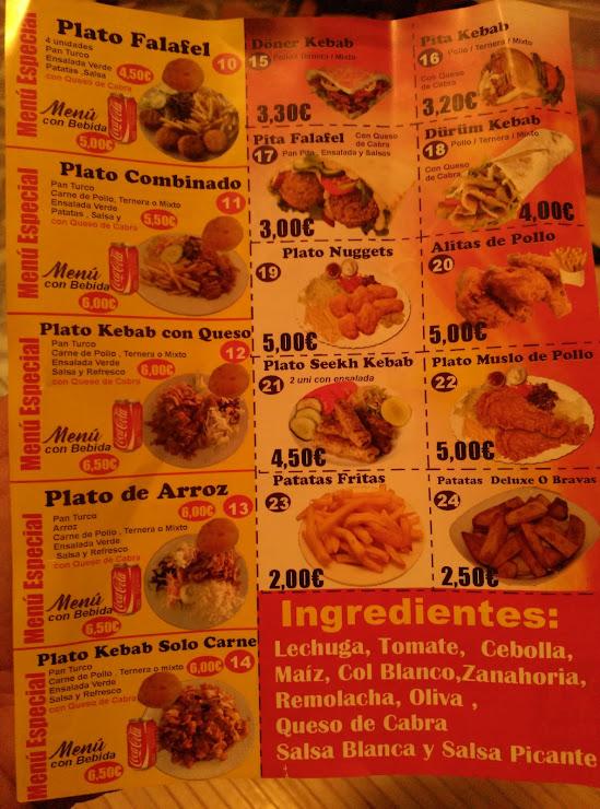 Prime Döner Kebab Bar Cafeteria Carrer de Julián Besteiro, 16, 08020 Barcelona