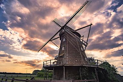 Letter Windmühle