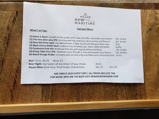 Brasserie New Maritime Beer Company à Miramichi (NB) | CanaGuide