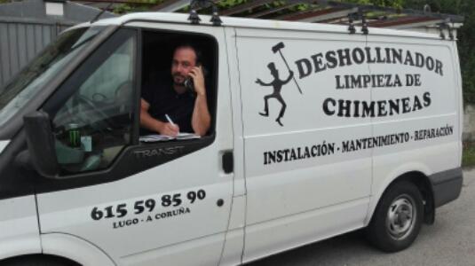 Deshollinador, limpieza de chimeneas Lugo