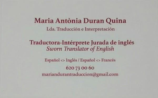 Traductor Jurado M A Duran