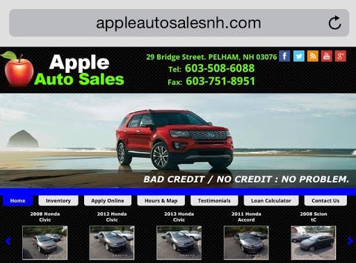 Used Car Dealer «Apple Auto Sales», reviews and photos, 29 Bridge St, Pelham, NH 03076, USA