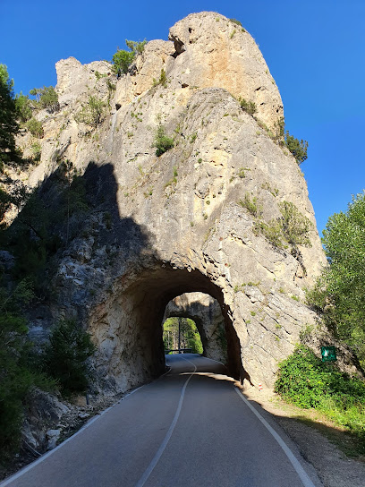 Puerta del Infierno - Túneles excavados en roca del Río Escabas