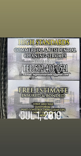 High standards commercial and residential cleaning service in Louisville, Kentucky