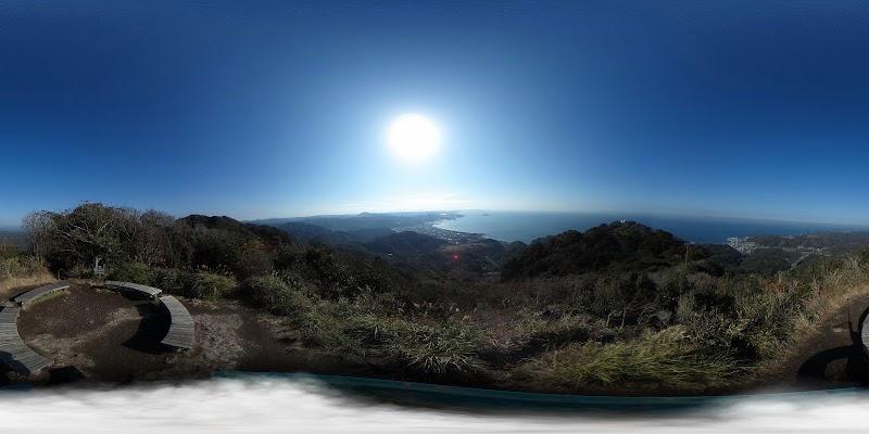 東京湾を望む展望台