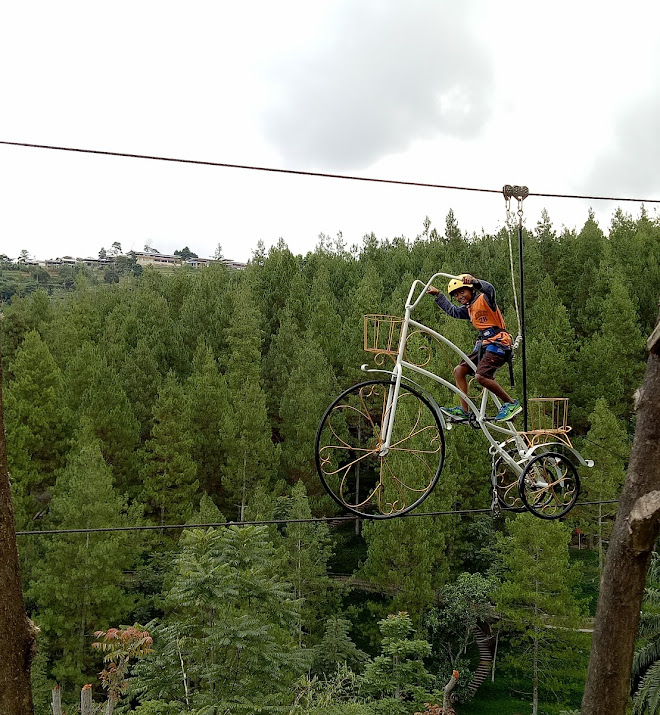 Sky bike at dago drem park. Making my heart pounding but its enjoyable. You must try it