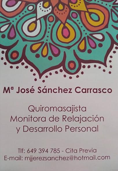 imagen de masajista QUIROMASAJE. MARÍA JOSÉ SÁNCHEZ CARRASCO