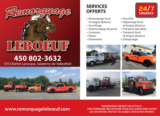 Towing Service ✅Remorquage Leboeuf - Remorquage à Beauharnois in Beauharnois (QC) | AutoDir