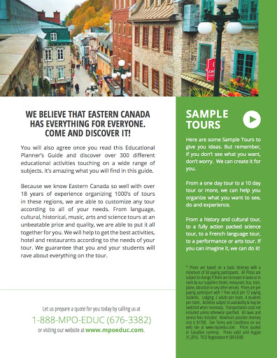 Agence de voyage MPO Educational Travel à Hawkesbury (ON) | CanaGuide