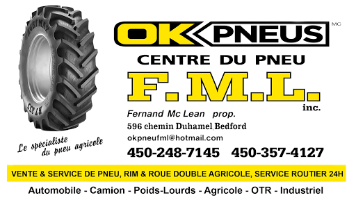 Magasin de pneus Centre du pneu F.M.L inc (OK Pneus) à Bedford (QC)   AutoDir