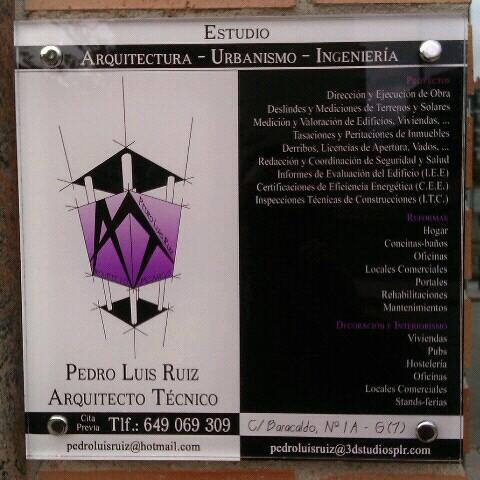 Arquitecto Técnico Pedro Luis Ruiz - PLR Estudio de Arquitectura, Urbanismo e Ingeniería