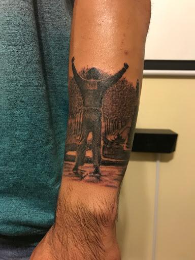 Angry Elephant Tattoo On Hand 1