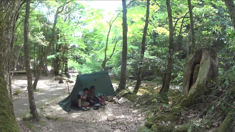 地峡 場 寂 キャンプ