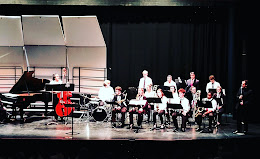 large group performing on stage