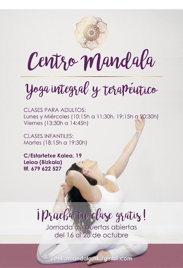 Opiniones Centro Mandala yoga integral y terapéutico