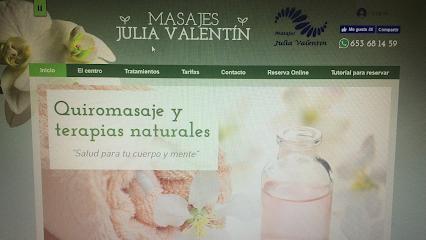 imagen de masajista Masajes Julia Valentín