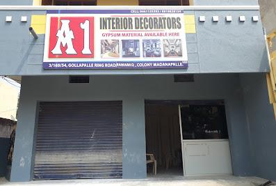 A1 interiors decorators Pop Shop/ gypsum powder/ ceiling flowers/ hammer machines/ pop designs.Madanapalle