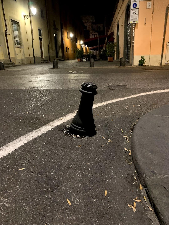 The Leaning Bollard of Pisa
