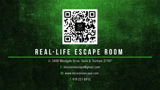 Tourist Attraction «Mission X Escape», reviews and photos, 3400 Westgate Dr #8, Durham, NC 27707, USA