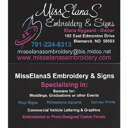 Embroidery service MissElanaS Embroidery & Signs