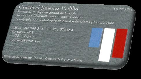 Cristóbal Jiménez Vadillo - Traductor Intérprete jurado de francés